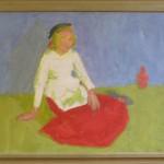 182. Flicka i röd kjol (72x62) 3000:-