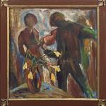 Violer från Montmartre Olja på duk (inköp 13.9.13)