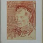 Rödkrita-46 28x38 Porträtt av Ragnar Godin 1000:-