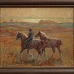 Oljemålning-33 Hästar i gryningen 6000:-